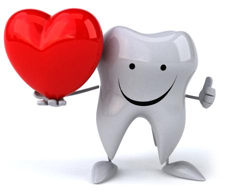 die Zähnen mit dem Herz